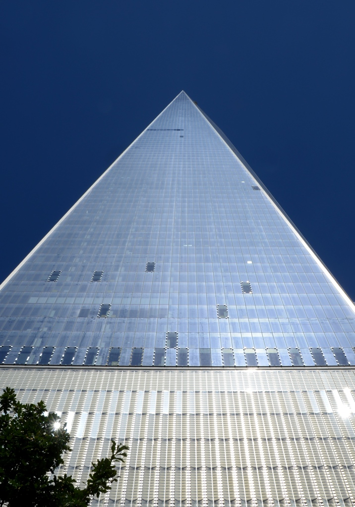 Freedom Tower, from this angle, it looks like a pyramid