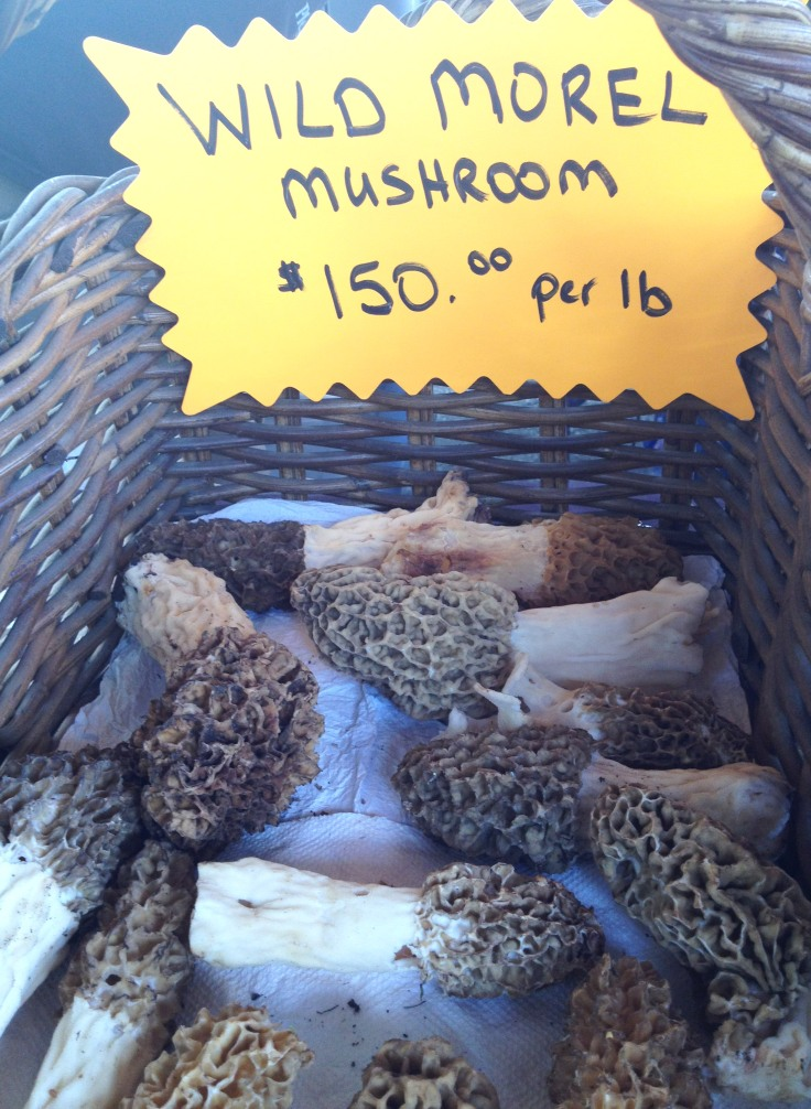 A sign at one of the farmer's Market stands. Yes, it says $150 per pound
