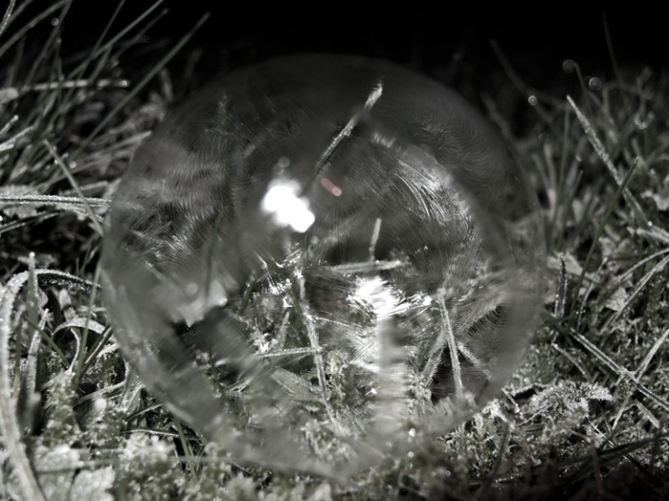 Photo of frozen bubble